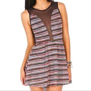 🍍For Love & Lemons Lulu Striped Multicolour Dress
